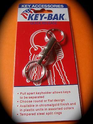 KEY-BAK Pull-Apart Key Ring KK1121C Quick Release Easy-Join Chrome