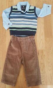 JoJo-Maman-Bebe-NEXT-6-12-months-boy-wedding-set-formal-shirt-trousers-jumper