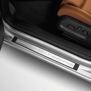 Original-Volkswagen-Einstiegsleiste-VW-Golf-VI-2-tuerer-Edelstahl-gebuerstet-NEU