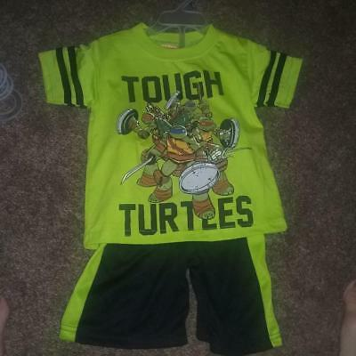 TMNT Team Turtles Baby Boys Tank Top and Shorts Outfit Set