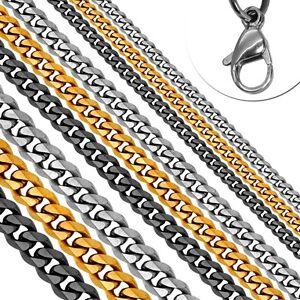 Halskette-Herren-Edelstahlkette-Panzerkette-Koenigskette-Armband-Herrenschmuck