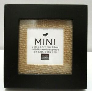 Details about 3X3 Black Mini Frame With Burlap Mat Or 2x2