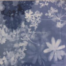 CALVIN KLEIN Watercolor Floral FULL QUEEN DUVET COVER SET blue white COTTON new