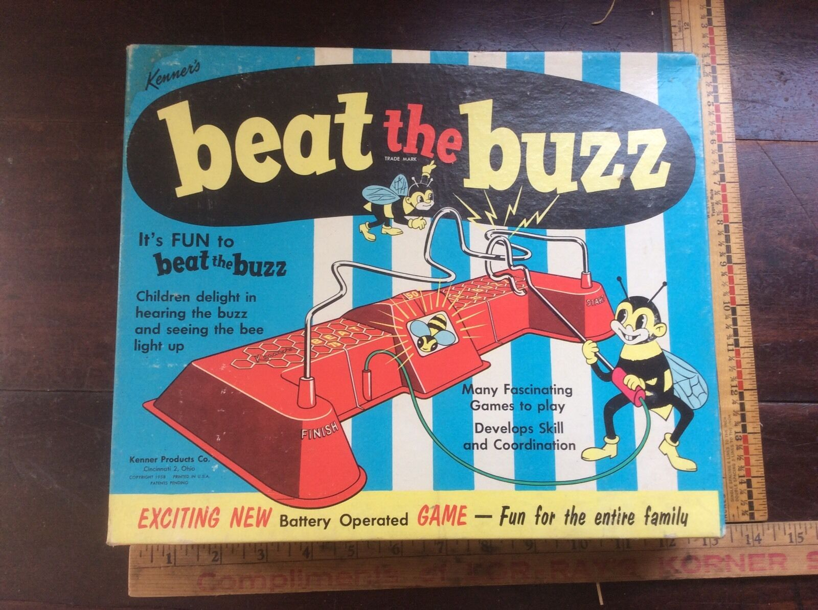 Vintage Rare Kenner Beat The Buzz Game