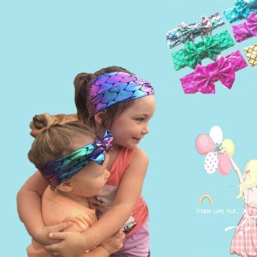 Infant Girl  Baby Headwrap Hair Accessories Mermaid Headband Bow Sequins