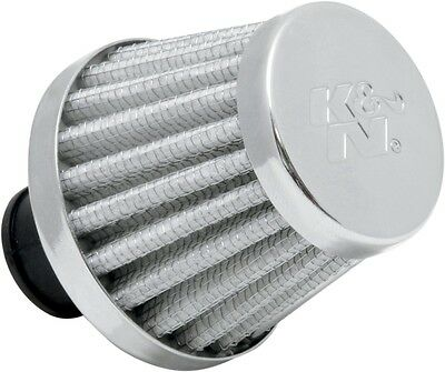 "K&N KN Crankcase Vent Breather Air Filter White 3/8"" Flange"