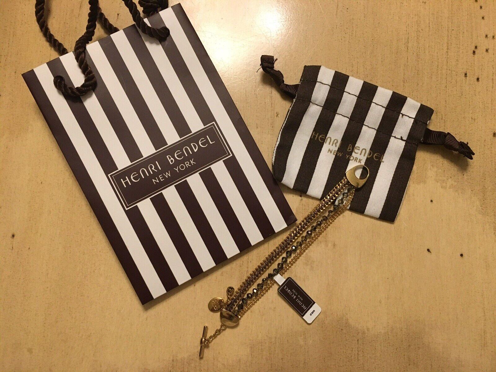 BNWT Henri Bendel St. Tropez Delicate Bracelet w  HB Dust Bag & Shopping Bag