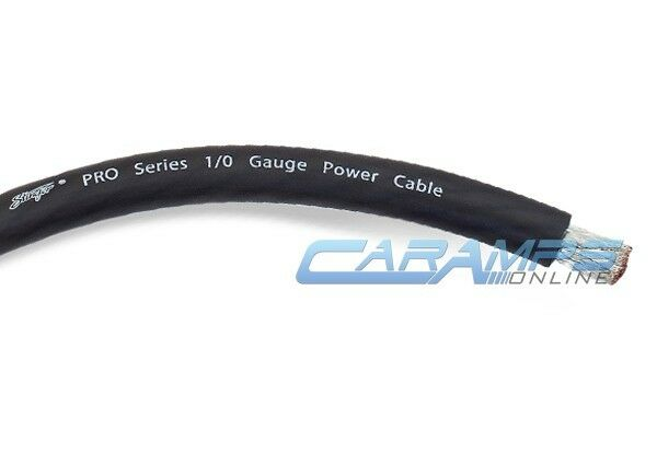 STINGER SPW10TB PRO 1/0 GAUGE AWG BLACK CABLE CAR POWER/GROUND BATTERY WIRE 0G