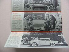 1961 Simca Panel Brochure