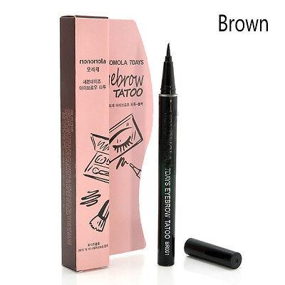 Brown liquid 7 Days Eyebrow Tattoo Pen Liner Long Lasting Eye Makeup Cosmetic