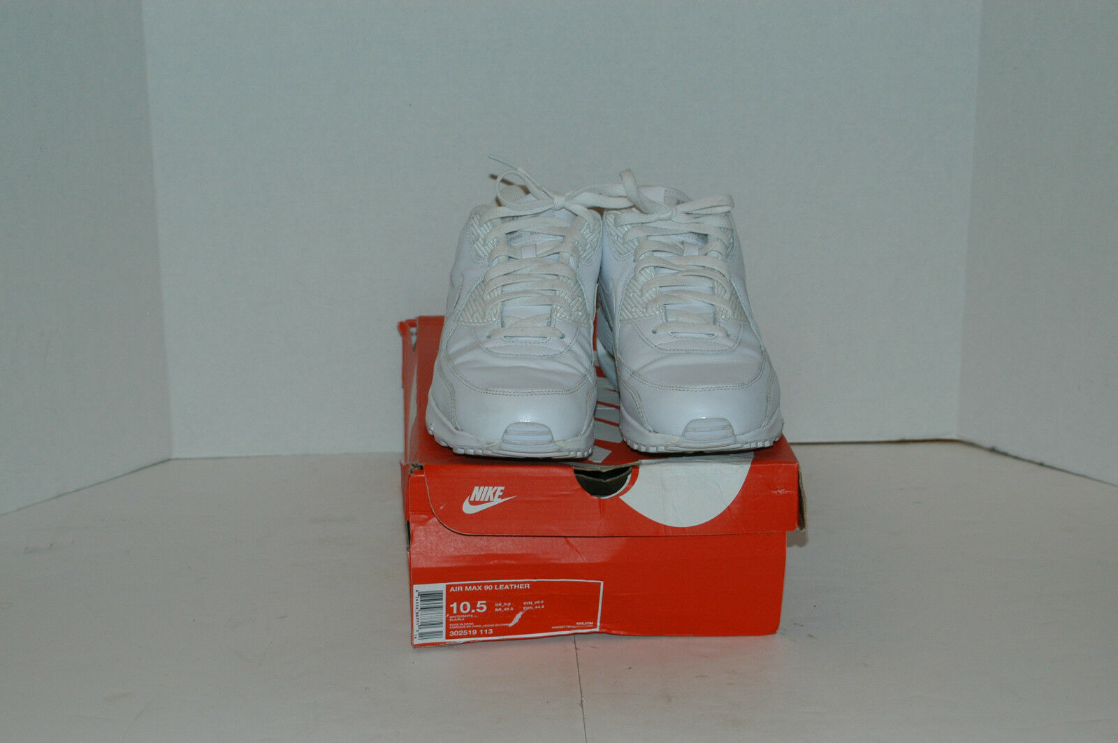 [39] Nike Air Max 90 Leather White Size 10.5