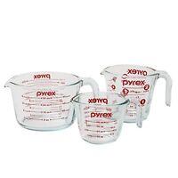 Pyrex 3-piece Glass Measuring Cup Set