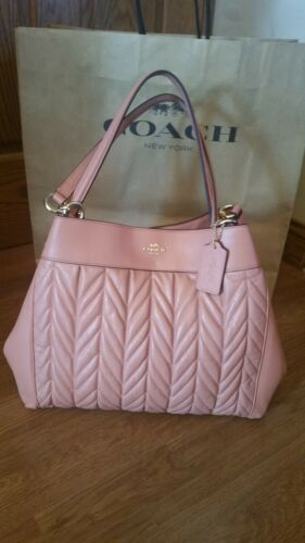 Coach Lexy Phoebe Hallie shoulder bag quilted Pink