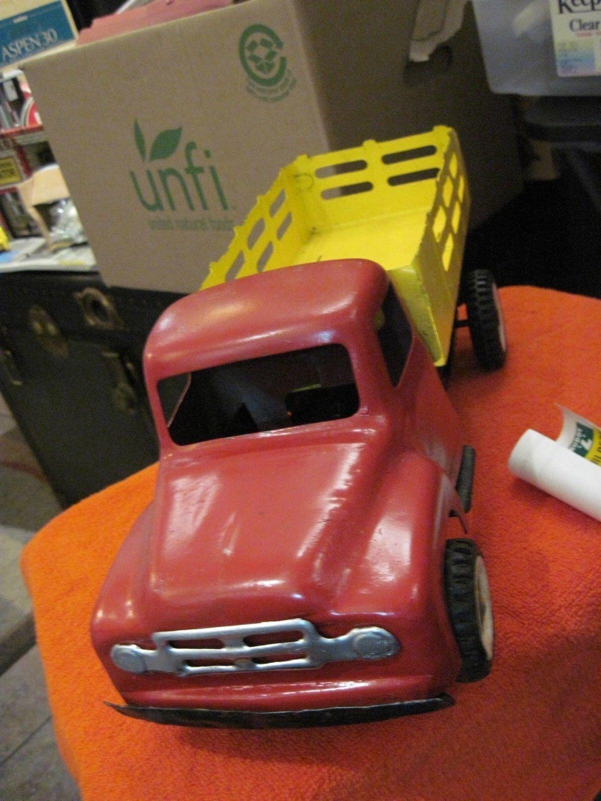 Vintage 1950 camión de suministro de constructores era Buddy L