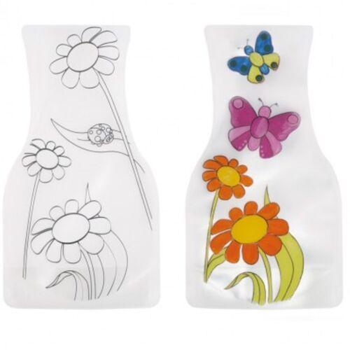 2er-Set Deko-Vase zum Selbstgestalten NEU transparent Ostern Geschenk