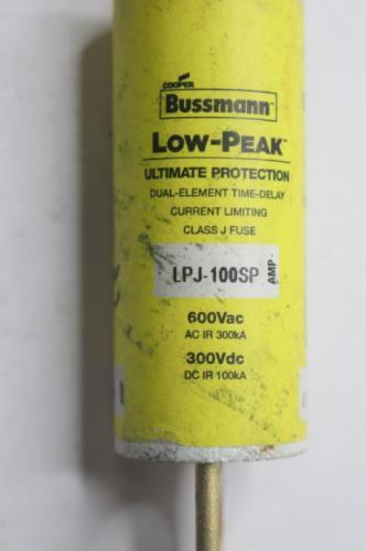 Bussmann Lpj-100sp Fuse Class J 100a LPJ Series for sale online