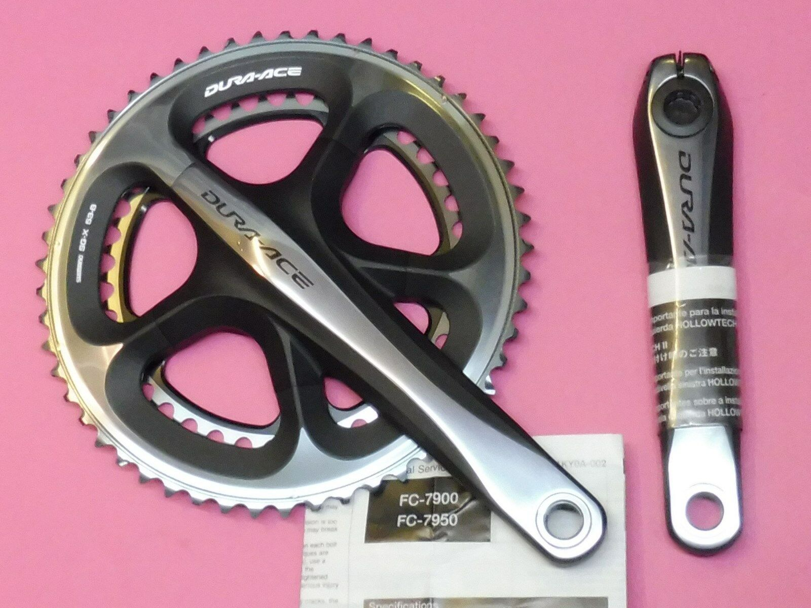 Shimano  Dura Ace  7900 cycle chainset 172.5 mm -  39.53 - NOS
