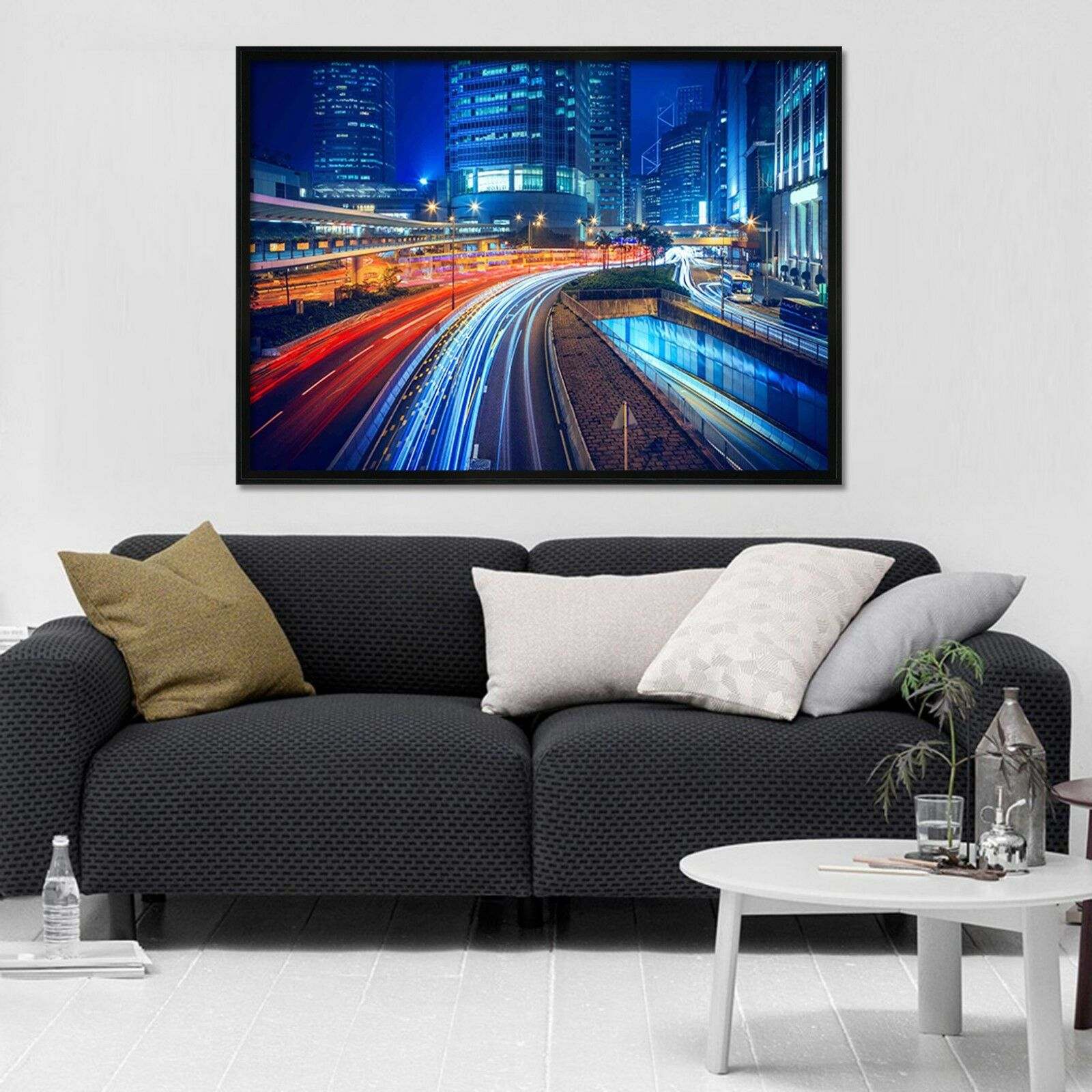 3D Car Street 6 Framed Poster Home Decor Print Painting Art AJ WALLPAPER AU