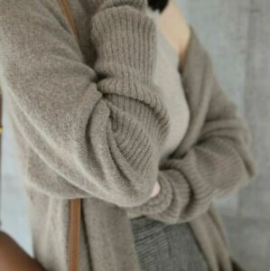 Sweater-women-039-s-Coat-cloak-Warm-Long-knitted-Loose-Cashmere-Cardigan-Winter