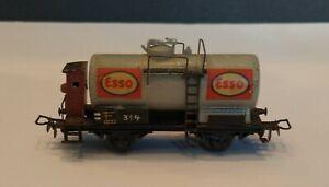 Vintage Marklin HO Scale 314 Gray Esso Tank Wagon