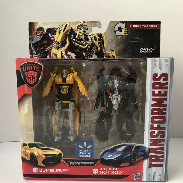 Transformers The Last Knight 1 Step Turbo Changer Bumblebee Autobot Hot Rod NEW
