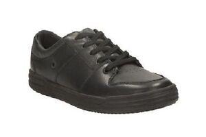 Chaqueta de Clarks Fitting negro cuero By zapatos con G cordones pirata escolares Harlemspin ErtwqrAF