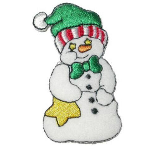 various designs Christmas Snowman Iron On Applique x 1