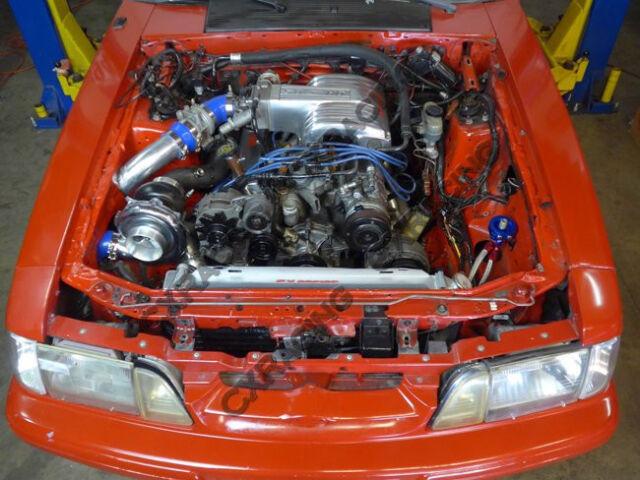 CX T76 Turbo Intercooler Kit for 79-93 Fox Body Ford Mustang V8 5 0 Na-t  Black