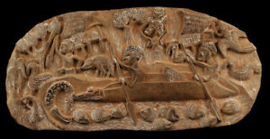 Story-board-carved-wood-pannel-kambot-oceania