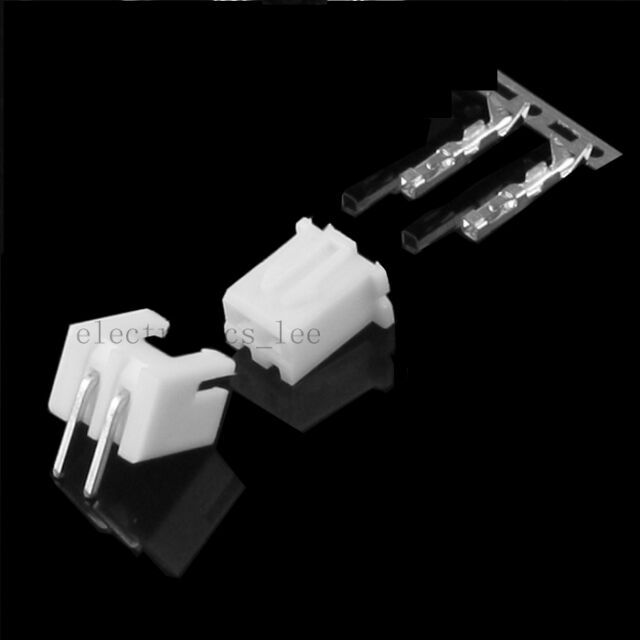 100sets 2pin XH2.54 Right Angle male connector+Terminal+female pin connector