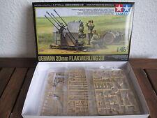 German 20mm Flakvierling 38 mit Figuren von Tamiya im Maßstab 1:48 *NEU*