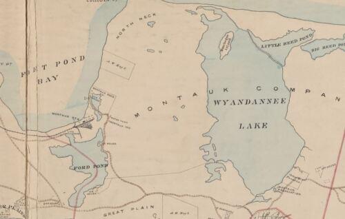 1902 EASTHAMPTON SUFFOLK LONG ISLAND NY FIRE ISLAND BEACH COPY PLAT ATLAS MAP