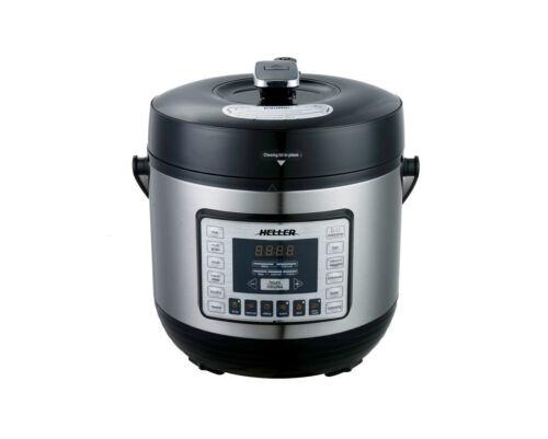 Heller 1000W 6L Electric Digital Slow/Pressure Cooker Stainless Steel HPC1000
