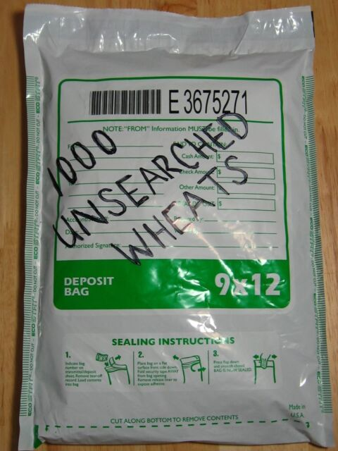 (1000) WHEAT PENNIES OLD COIN LOT SEALED BANK BAG LINCOLN CENTS 1909-1958PDS (2)