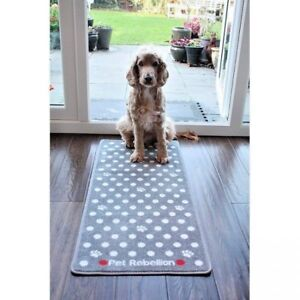 PET-REBELLION-DOTTY-SPOTTY-SMALL-PAWS-GREY-BARRIER-RUG-DOOR-MAT-RUNNER