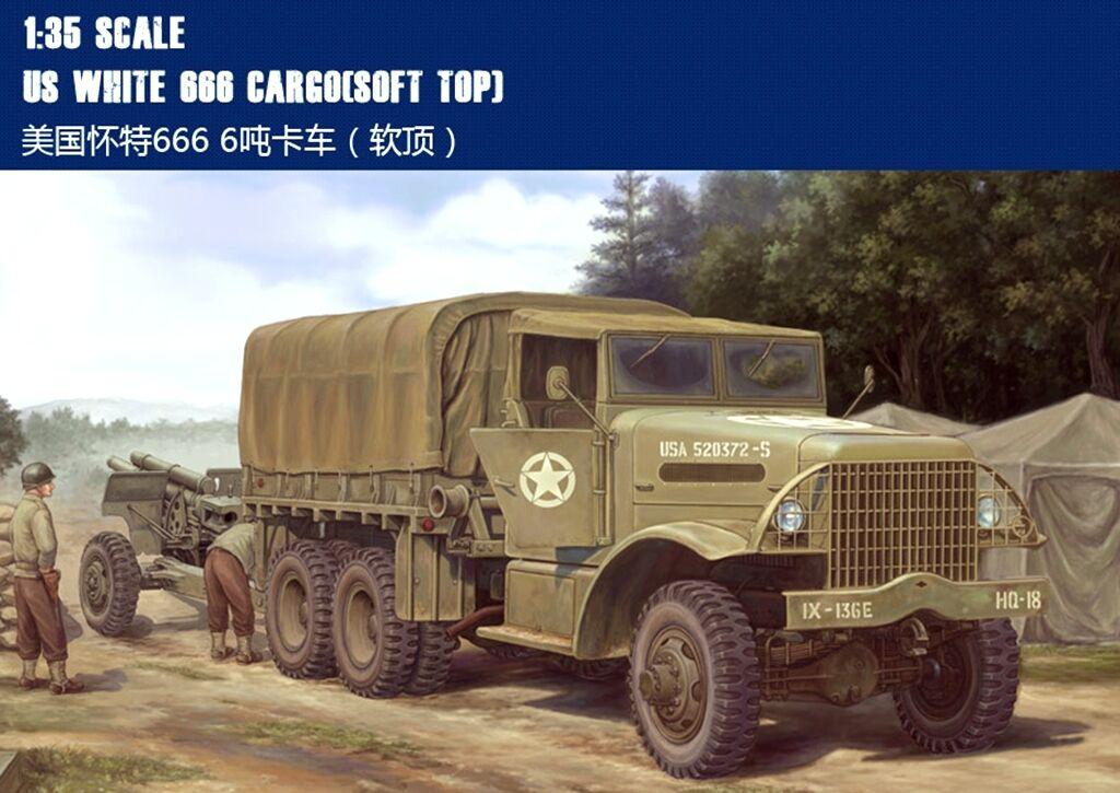 ◆ HobbyBoss 83802 1 35 US White 666 Cargo [softTop] model kit