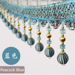 Image is loading 1M-Ball-Beads-String-Tassel-Trim-Ribbon-Curtain- 76b677603