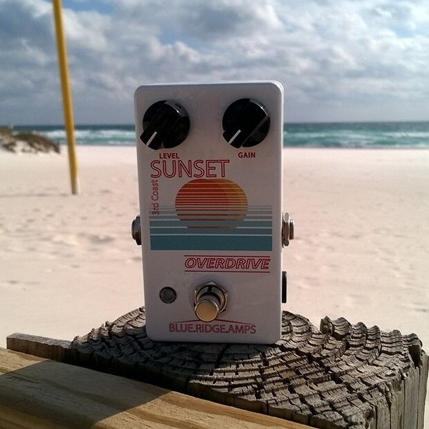 Blau Ridge Amps Sunset Overdrive Guitar Effect Pedal Brand New Hand Wirot