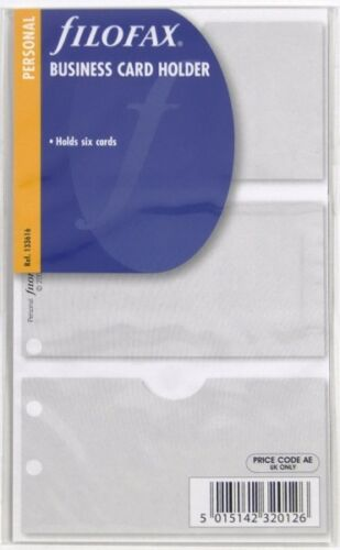Filofax Einlage Personal Business Card Holder