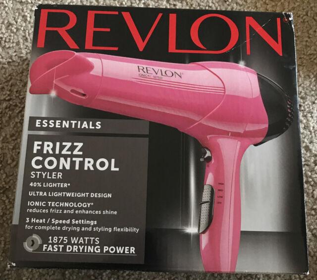 Revlon Essentials Frizz Control Styler Hair Dryer 1875 Watts Pink