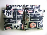 York Yankees Cornhole Bean Bags Set Of 4 Top Quality Regulation Toss Game