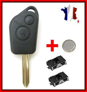 Coque-Plip-Telecommande-Pour-CITROEN-Saxo-Xsara-Picasso-Berlingo-2-Switchs-Pile