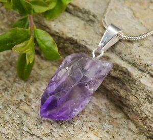 Raw-AMETHYST-Point-Pendant-Amethyst-Quartz-Crystal-Jewelry-E0250