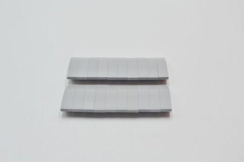 LEGO 20 x Bogenstein neuhell grau Light Bluish Gray Slope Curved 4x1 61678
