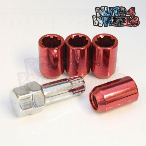 4 x Red Tuner Locking Nuts M12x1.5 Fits Honda Civic EG EK EP3 EK9 FN2 TYPE R