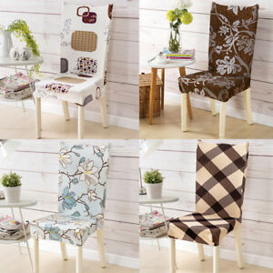 Image Is Loading UK Removable Protector Chair Stretch Slipcovers Dining Room
