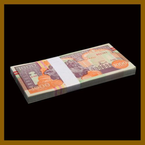 1990 P-R10 Puntland Region Unc Somalia 1000 Shillin// Shillings x 100 Pcs Bundle