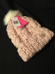 cd0ba8bf88a84c SOLD OUT Betsey Johnson Chunky Knit Pom Pom Winter Hat Beanie With ...