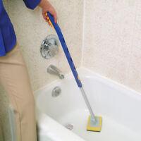 Extension Long Bathtub Scrubber Pad Bathroom Bath Tub Shower Easy Cleaning Tool