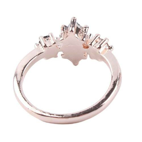 Gift Women Band Oval Crystal Ring Multisize Exquisite Delicate Ladies Jewelry O3